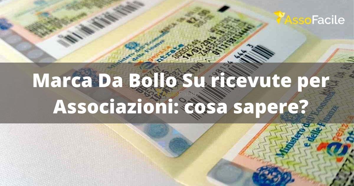 Marca da Bollo su ricevuta Associazioni: cosa dice la Legge?